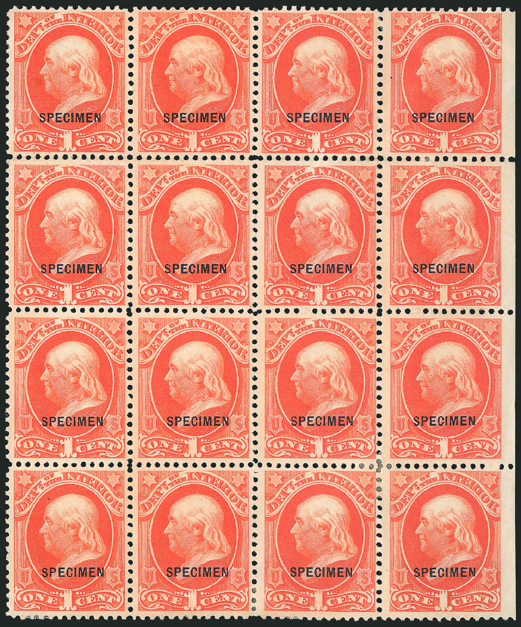 Price of US Stamp Scott O15 - 1c 1873 Interior Official. Robert Siegel Auction Galleries, Mar 2015, Sale 1095, Lot 548