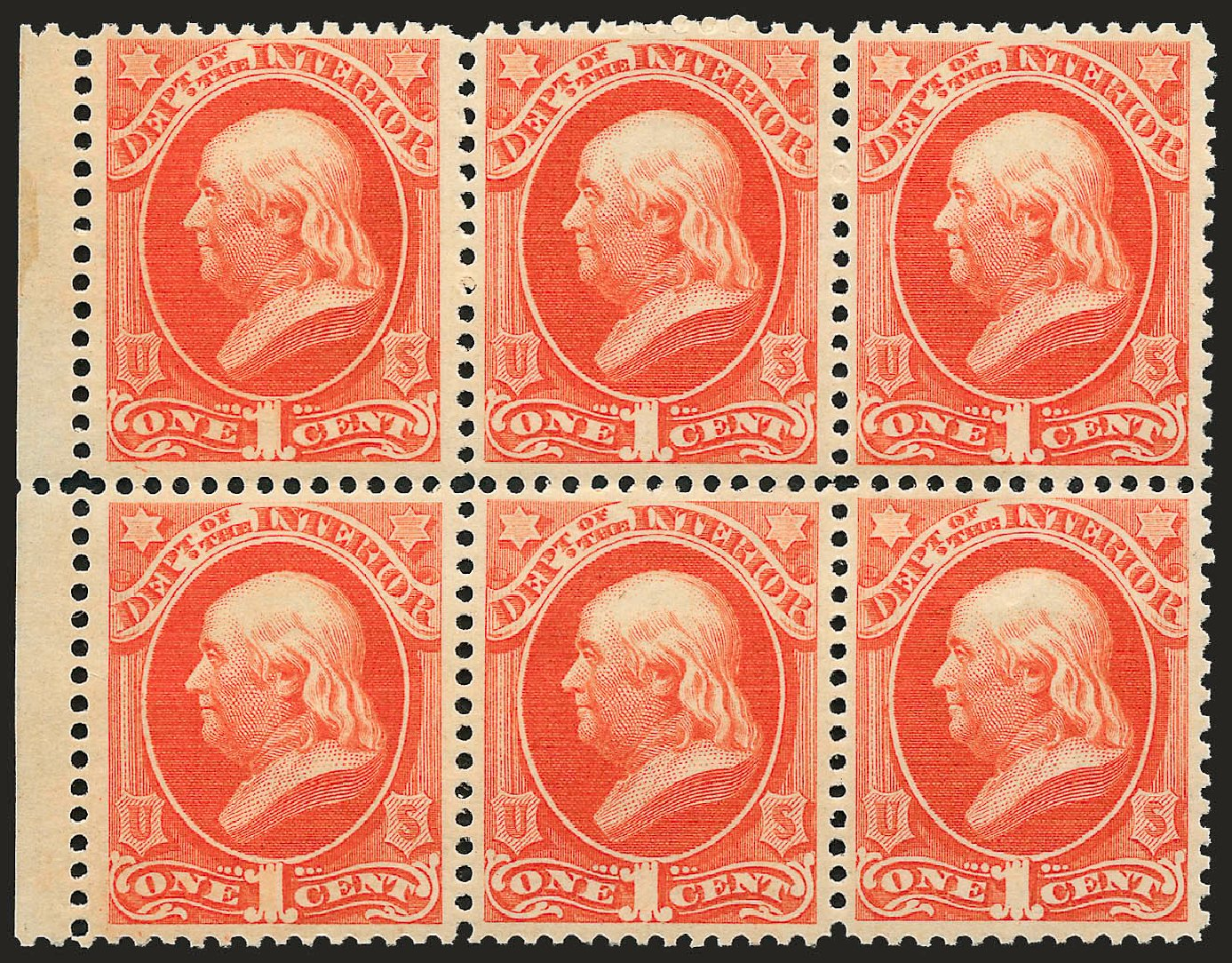 US Stamps Value Scott # O15 - 1c 1873 Interior Official. Robert Siegel Auction Galleries, Sep 2008, Sale 962, Lot 3030