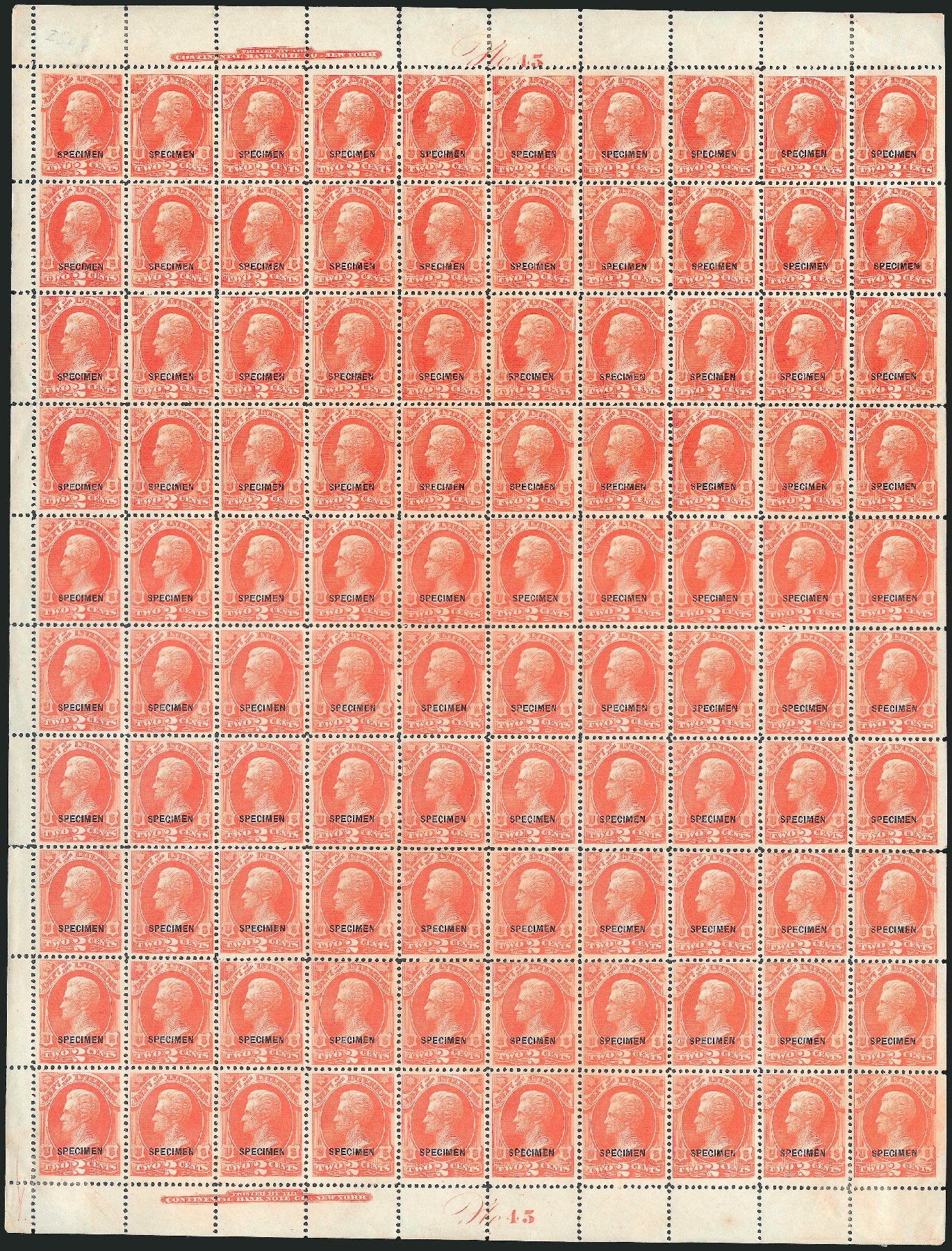 US Stamps Value Scott Catalog #O16: 2c 1873 Interior Official. Robert Siegel Auction Galleries, Mar 2015, Sale 1095, Lot 550