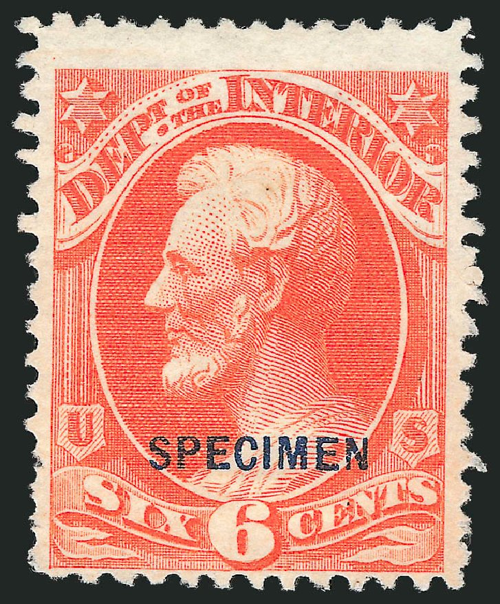 Costs of US Stamps Scott Cat. # O18 - 6c 1873 Interior Official. Robert Siegel Auction Galleries, Mar 2015, Sale 1095, Lot 538