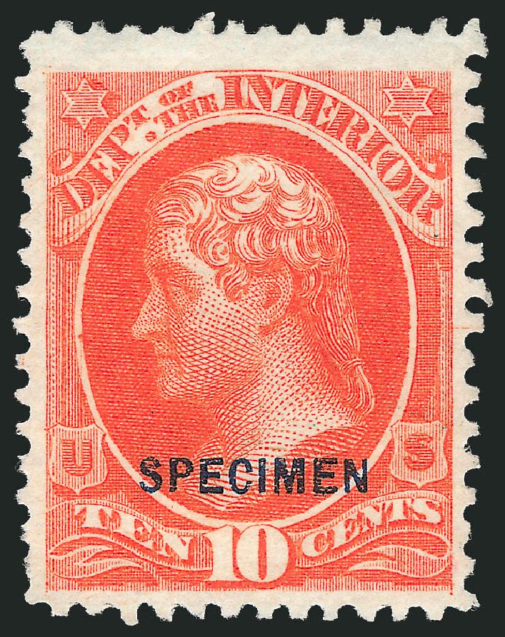 Cost of US Stamps Scott # O19 - 10c 1873 Interior Official. Robert Siegel Auction Galleries, Mar 2015, Sale 1095, Lot 539