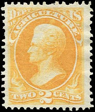 US Stamps Prices Scott O2 - 1873 2c Agriculture Official. Regency-Superior, Aug 2015, Sale 112, Lot 1148