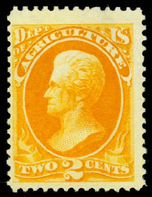 Cost of US Stamps Scott Catalogue # O2: 1873 2c Agriculture Official. Daniel Kelleher Auctions, Jan 2015, Sale 663, Lot 2135