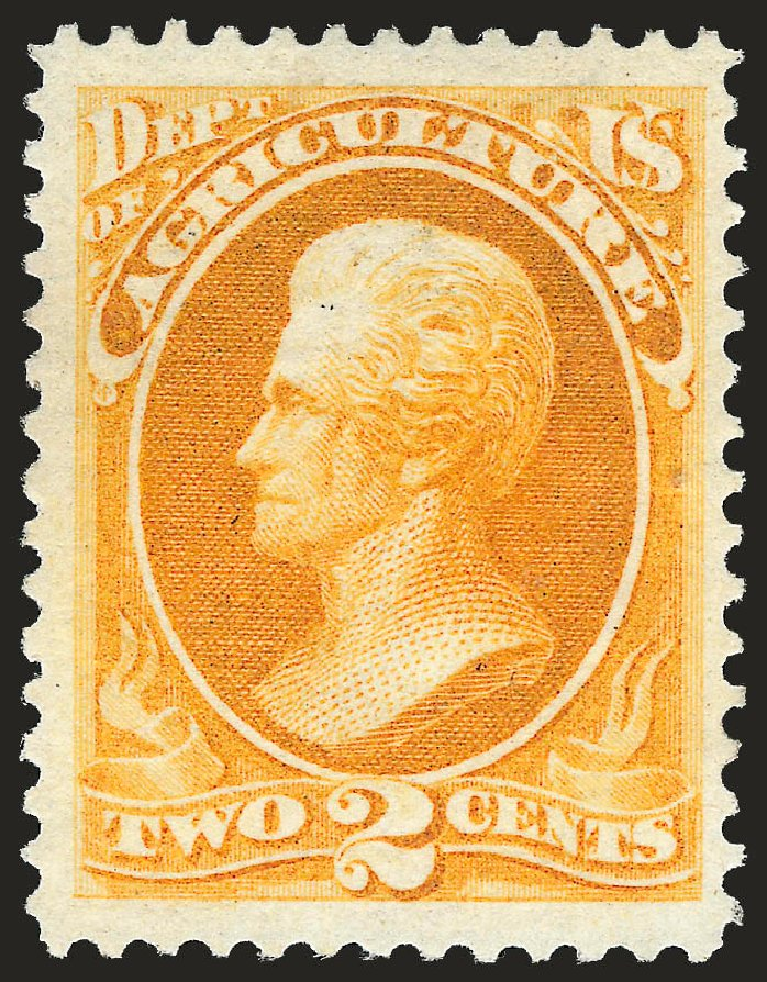 US Stamps Value Scott Cat. O2: 1873 2c Agriculture Official. Robert Siegel Auction Galleries, Jun 2010, Sale 992, Lot 2625