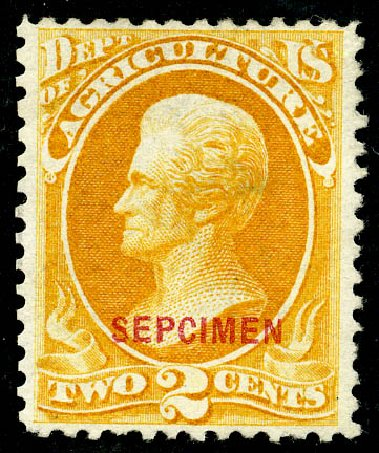 Costs of US Stamp Scott Catalog #O2: 1873 2c Agriculture Official. Matthew Bennett International, May 2008, Sale 327, Lot 276