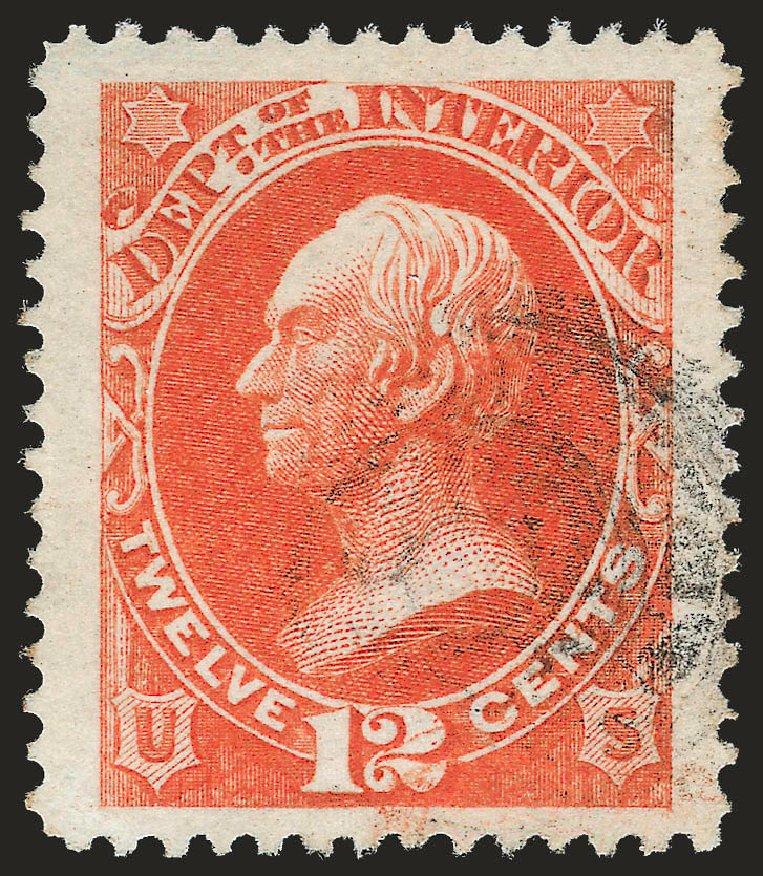 Costs of US Stamps Scott Catalogue # O20: 12c 1873 Interior Official. Robert Siegel Auction Galleries, Jun 2010, Sale 992, Lot 2631