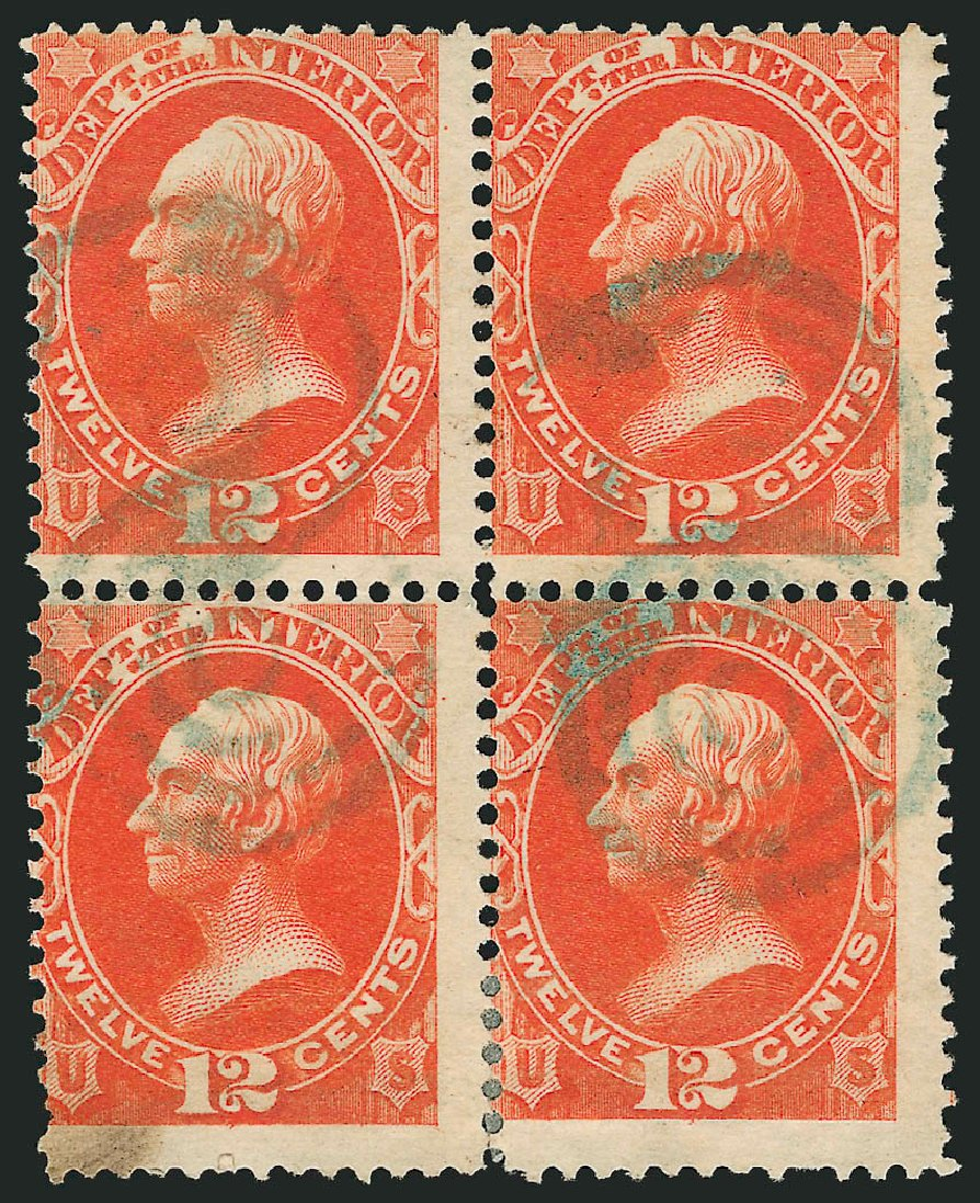 US Stamp Prices Scott Catalogue # O20 - 12c 1873 Interior Official. Robert Siegel Auction Galleries, Nov 2014, Sale 1085, Lot 4044