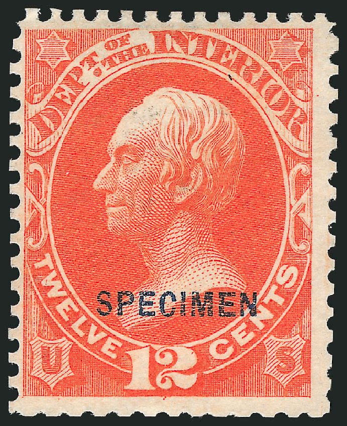 Price of US Stamp Scott # O20 - 12c 1873 Interior Official. Robert Siegel Auction Galleries, Mar 2012, Sale 1019, Lot 975