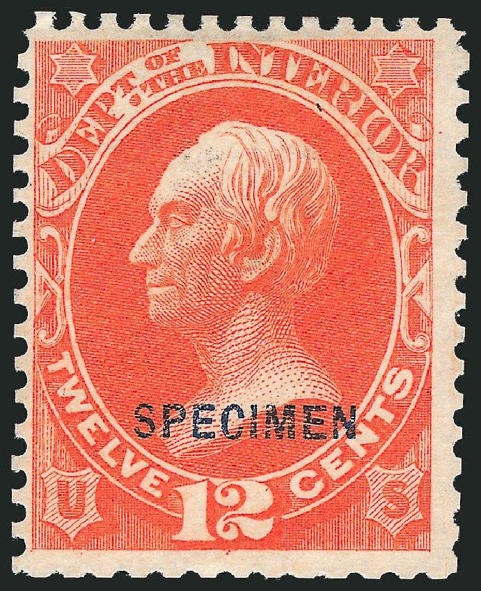 Price of US Stamp Scott # O20 - 12c 1873 Interior Official. Robert Siegel Auction Galleries, Mar 2012, Sale 1019, Lot 975