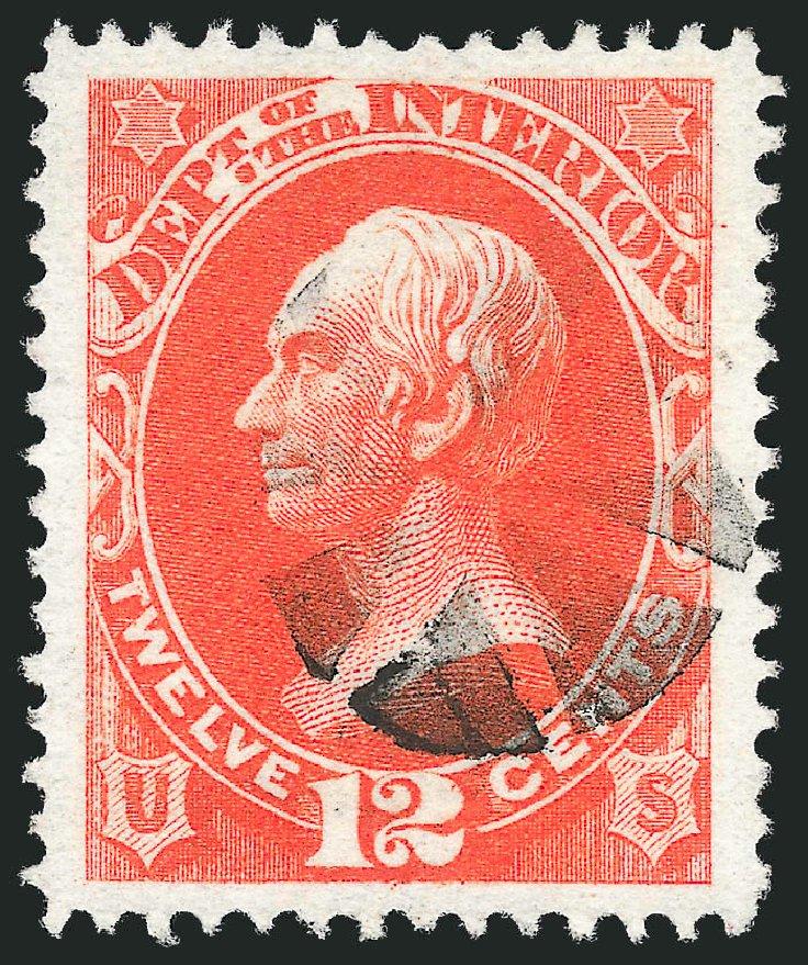 Value of US Stamps Scott Cat. #O20: 1873 12c Interior Official. Robert Siegel Auction Galleries, Oct 2012, Sale 1032, Lot 3652