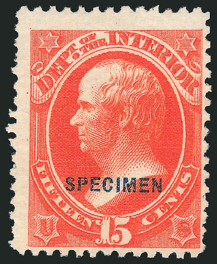 Values of US Stamp Scott Catalogue # O21: 1873 15c Interior Official. Robert Siegel Auction Galleries, Mar 2015, Sale 1095, Lot 541