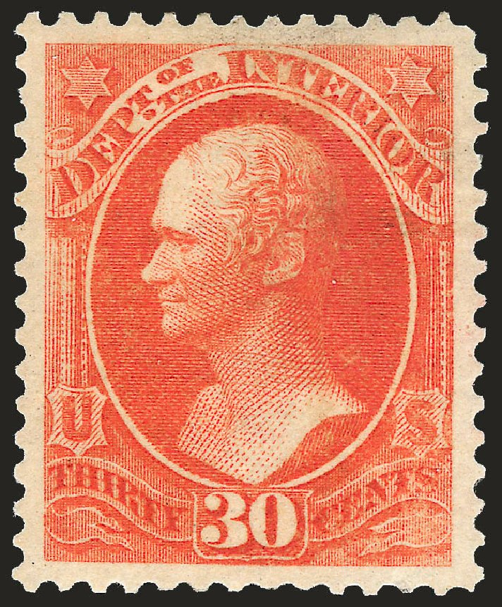 Costs of US Stamps Scott Catalogue # O23 - 1873 30c Interior Official. Robert Siegel Auction Galleries, Apr 2010, Sale 984, Lot 1158