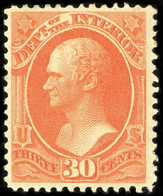 Costs of US Stamp Scott Catalog O23 - 1873 30c Interior Official. Spink Shreves Galleries, Jul 2015, Sale 151, Lot 389