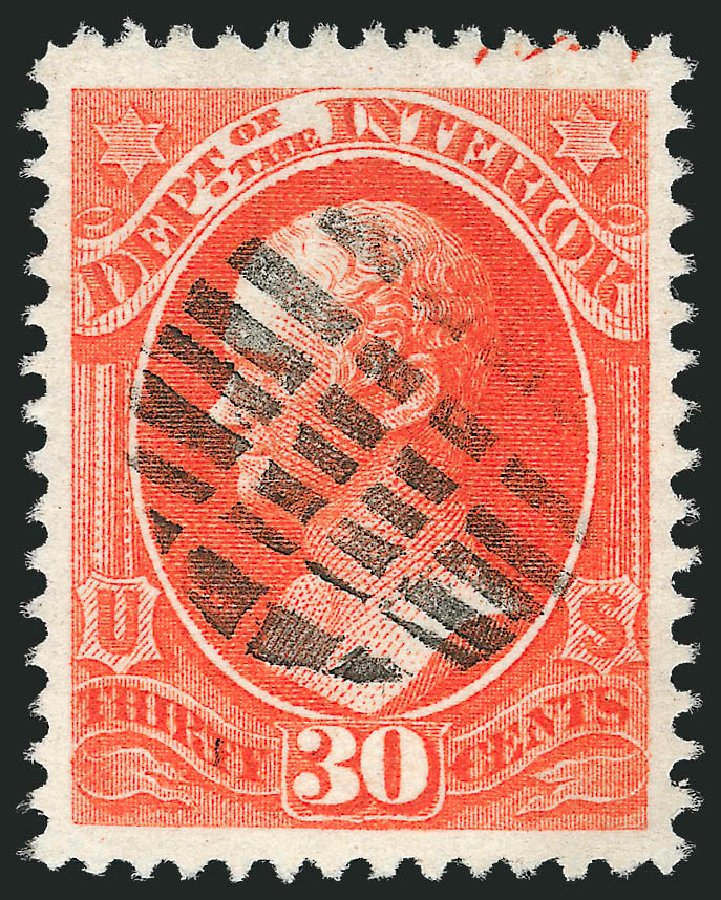 Prices of US Stamp Scott Cat. #O23: 30c 1873 Interior Official. Robert Siegel Auction Galleries, Oct 2012, Sale 1032, Lot 3654