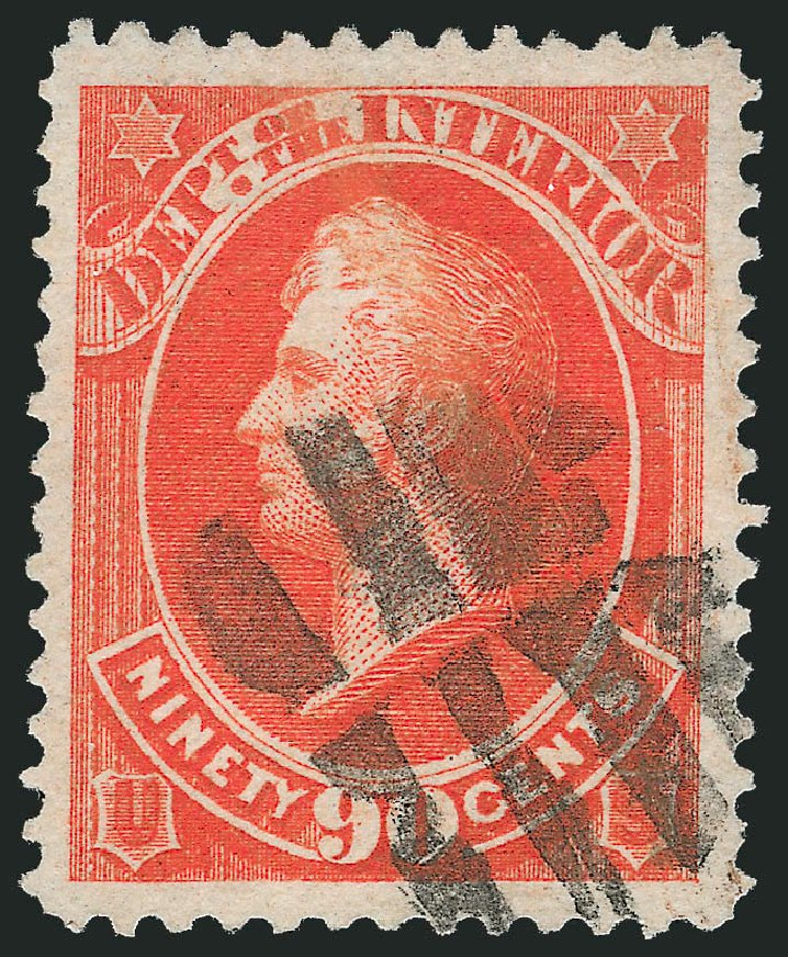 Costs of US Stamps Scott Catalogue #O24 - 90c 1873 Interior Official. Robert Siegel Auction Galleries, Oct 2011, Sale 1014, Lot 2350