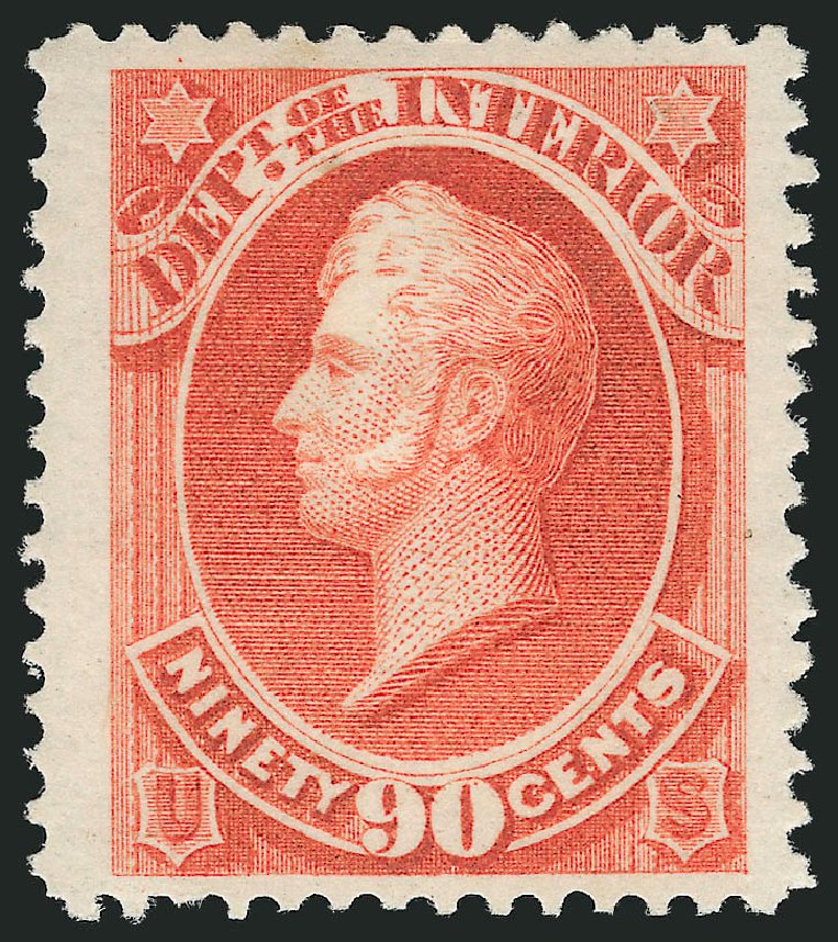 US Stamps Value Scott Cat. # O24 - 90c 1873 Interior Official. Robert Siegel Auction Galleries, Nov 2014, Sale 1085, Lot 4046