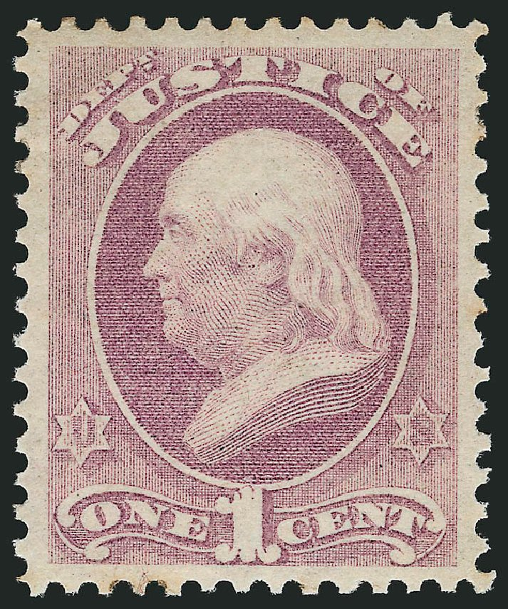 Prices of US Stamp Scott Cat. # O25: 1873 1c Justice Official. Robert Siegel Auction Galleries, Nov 2014, Sale 1085, Lot 4050