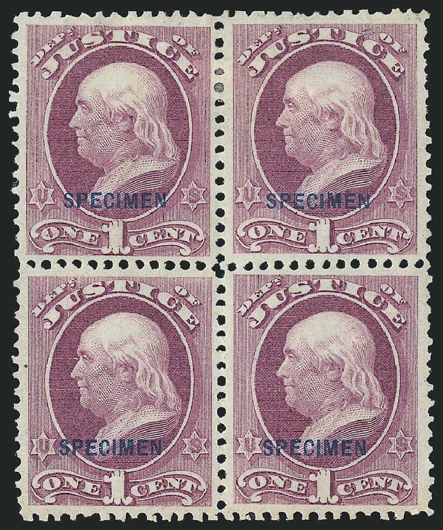 Price of US Stamps Scott Catalogue #O25 - 1c 1873 Justice Official. Robert Siegel Auction Galleries, Mar 2015, Sale 1095, Lot 563