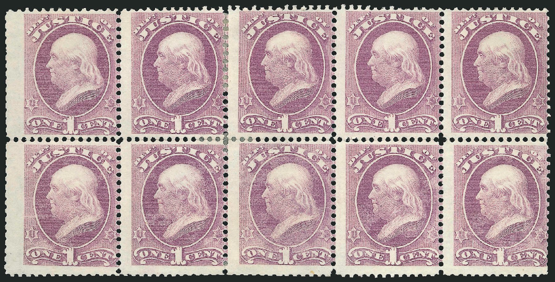 Price of US Stamps Scott Catalogue #O25 - 1873 1c Justice Official. Robert Siegel Auction Galleries, Jun 2015, Sale 1100, Lot 93