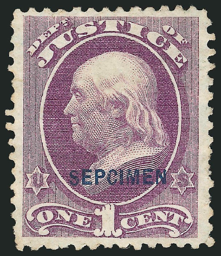 Values of US Stamps Scott Catalog # O25: 1873 1c Justice Official. Robert Siegel Auction Galleries, Mar 2015, Sale 1095, Lot 566