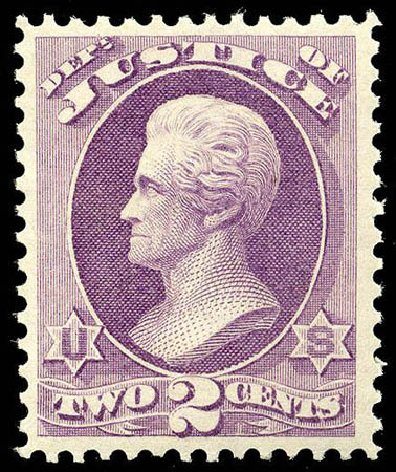 Cost of US Stamps Scott Catalogue O26: 1873 2c Justice Official. Matthew Bennett International, Apr 2008, Sale 326, Lot 682