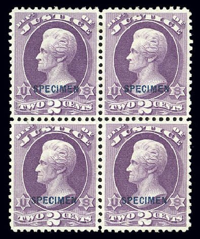 Prices of US Stamp Scott Catalog # O26 - 2c 1873 Justice Official. Matthew Bennett International, Sep 2010, Sale 331, Lot 963