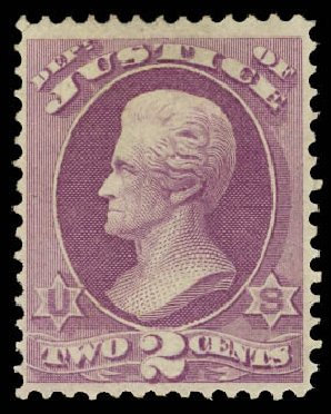 Costs of US Stamps Scott Catalog O26: 1873 2c Justice Official. Daniel Kelleher Auctions, Jun 2012, Sale 630, Lot 2106