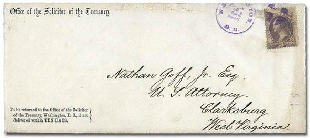 US Stamps Prices Scott O27: 3c 1873 Justice Official. Matthew Bennett International, Mar 2011, Sale 337, Lot 3176