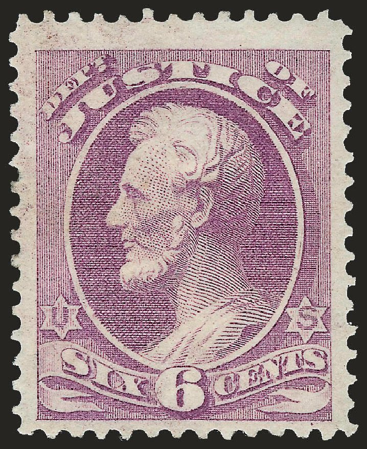 Price of US Stamps Scott Cat. # O28 - 6c 1873 Justice Official. Robert Siegel Auction Galleries, Jun 2010, Sale 992, Lot 2633
