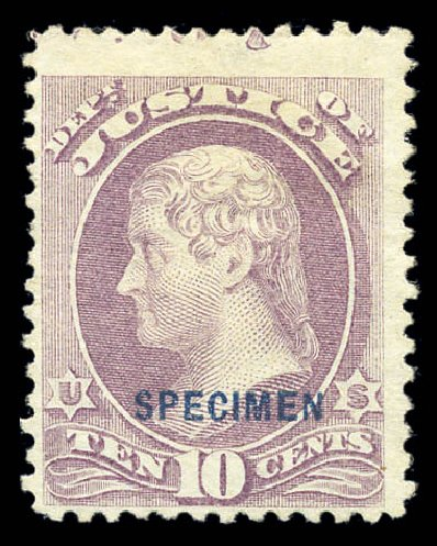 US Stamp Price Scott Catalog # O29: 1873 10c Justice Official. Matthew Bennett International, Sep 2010, Sale 331, Lot 964
