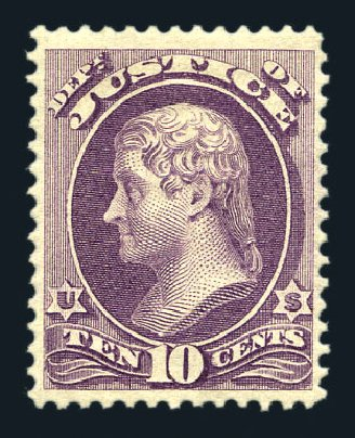 Costs of US Stamp Scott Catalogue #O29 - 1873 10c Justice Official. Harmer-Schau Auction Galleries, Aug 2015, Sale 106, Lot 2144