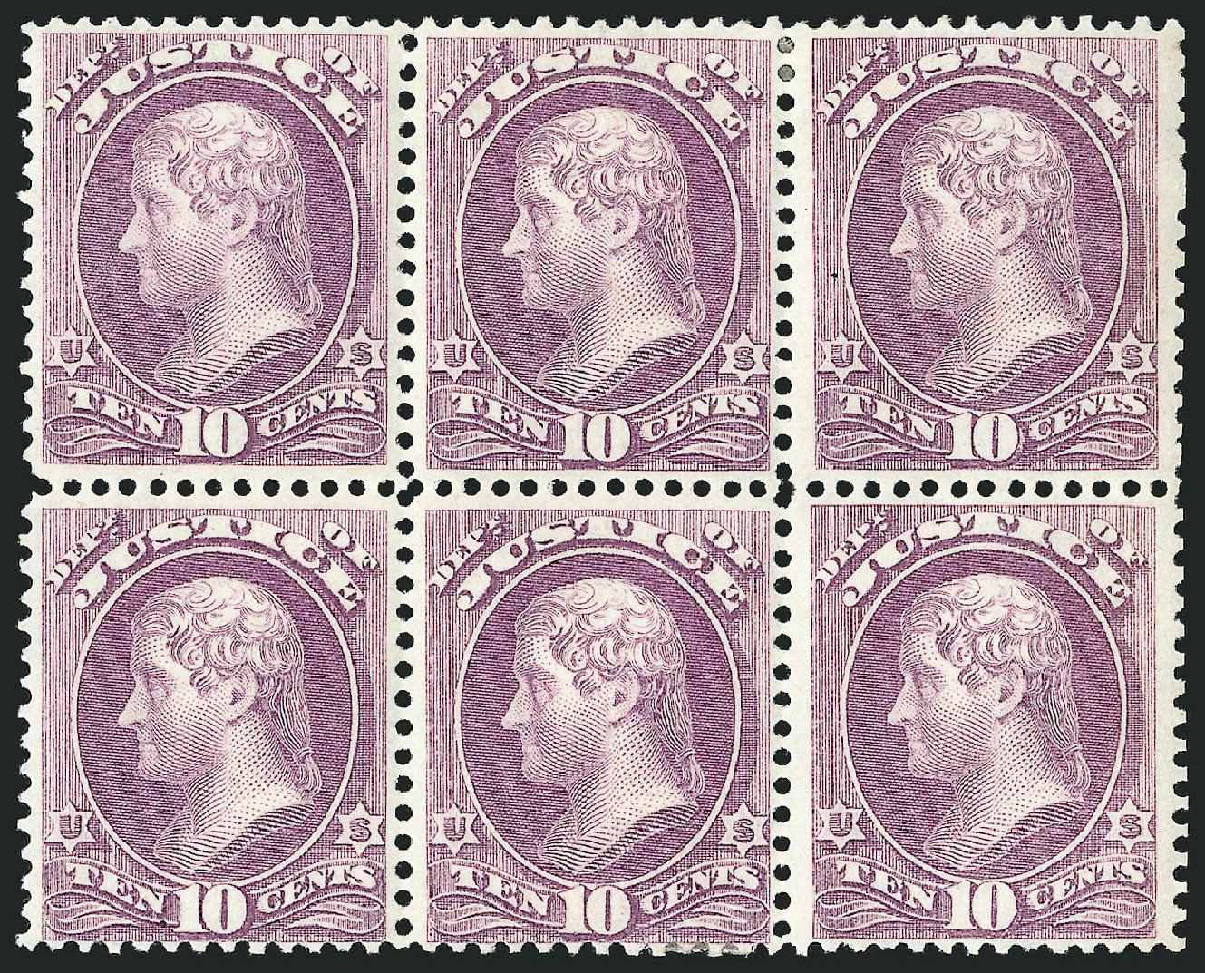 Price of US Stamp Scott # O29: 10c 1873 Justice Official. Robert Siegel Auction Galleries, Nov 2014, Sale 1085, Lot 4055