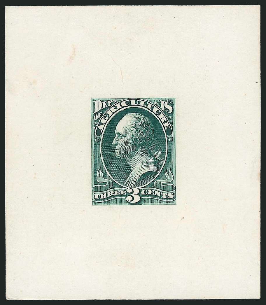 US Stamps Prices Scott Cat. #O3: 3c 1873 Agriculture Official. Robert Siegel Auction Galleries, Mar 2013, Sale 1040, Lot 1118