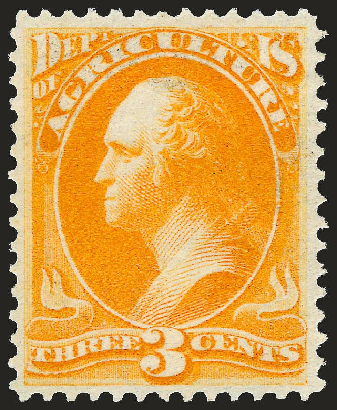 Price of US Stamps Scott #O3: 1873 3c Agriculture Official. Robert Siegel Auction Galleries, Sep 2008, Sale 962, Lot 3026