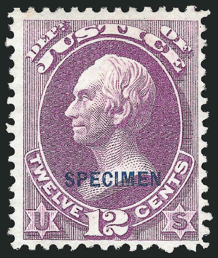 Prices of US Stamps Scott Catalog #O30 - 1873 12c Justice Official. Robert Siegel Auction Galleries, Mar 2015, Sale 1095, Lot 557