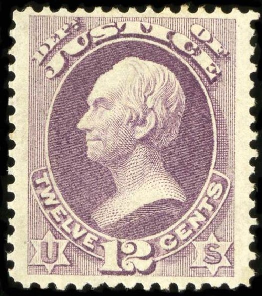 Costs of US Stamps Scott Catalog # O30: 12c 1873 Justice Official. Spink Shreves Galleries, Jul 2015, Sale 151, Lot 390
