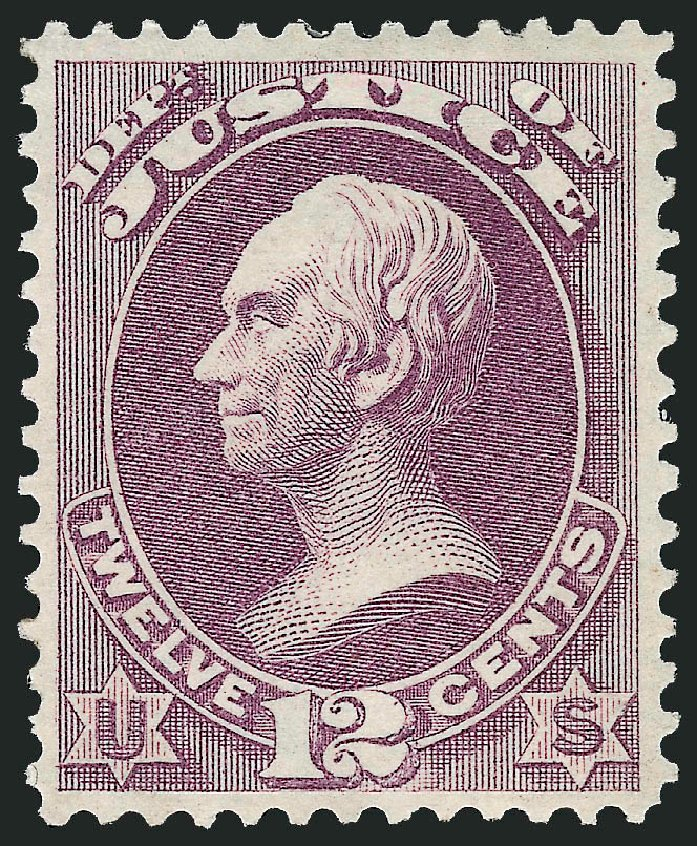 US Stamps Price Scott Cat. # O30 - 1873 12c Justice Official. Robert Siegel Auction Galleries, Dec 2008, Sale 967, Lot 5151