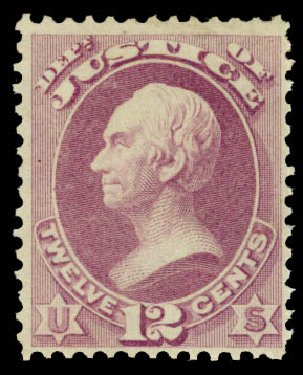 US Stamps Value Scott Catalog # O30: 1873 12c Justice Official. Daniel Kelleher Auctions, Aug 2015, Sale 672, Lot 2983