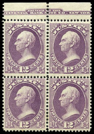 US Stamps Price Scott Catalog #O30 - 12c 1873 Justice Official. Matthew Bennett International, Mar 2011, Sale 336, Lot 1396