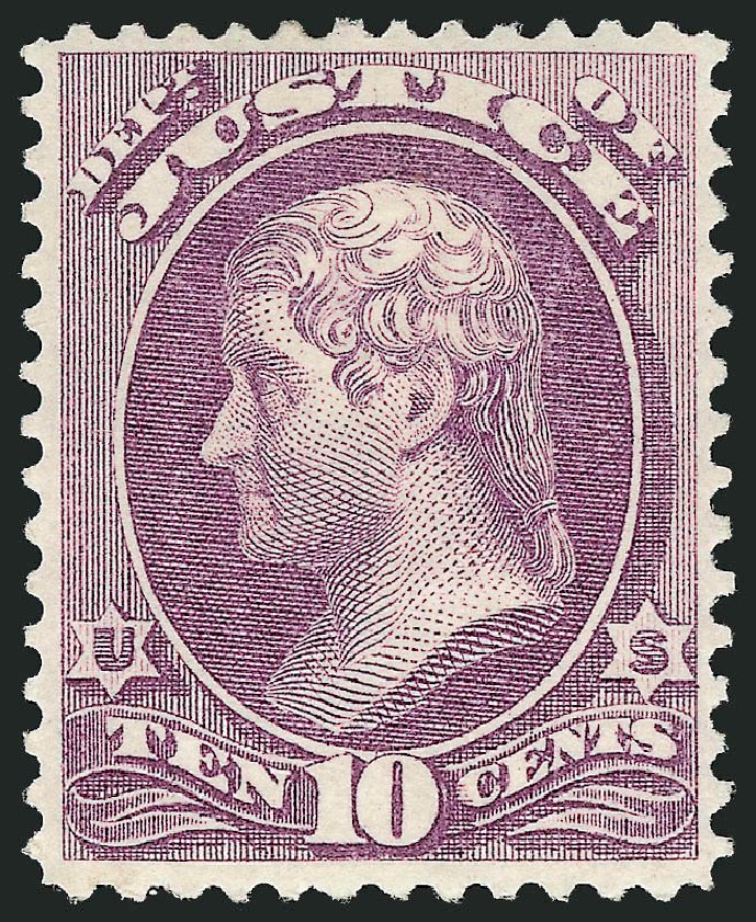 Prices of US Stamp Scott O30: 12c 1873 Justice Official. Robert Siegel Auction Galleries, Feb 2015, Sale 1092, Lot 1456