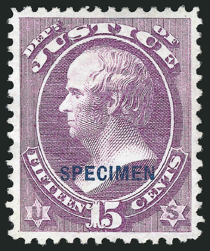 US Stamp Values Scott # O31 - 1873 15c Justice Official. Robert Siegel Auction Galleries, Mar 2015, Sale 1095, Lot 558
