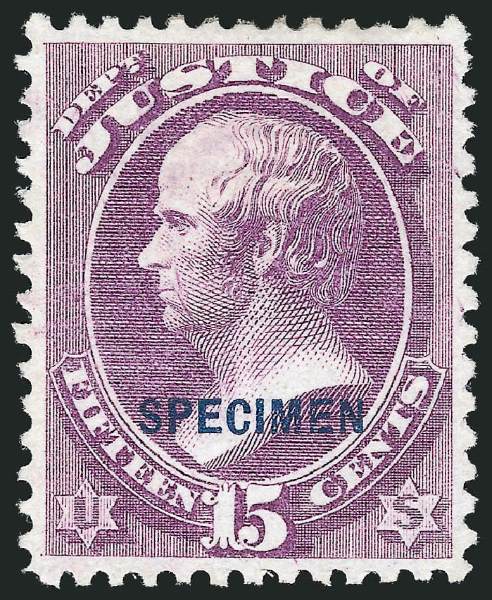 Price of US Stamps Scott Catalog #O31 - 1873 15c Justice Official. Robert Siegel Auction Galleries, Nov 2013, Sale 1061, Lot 4200