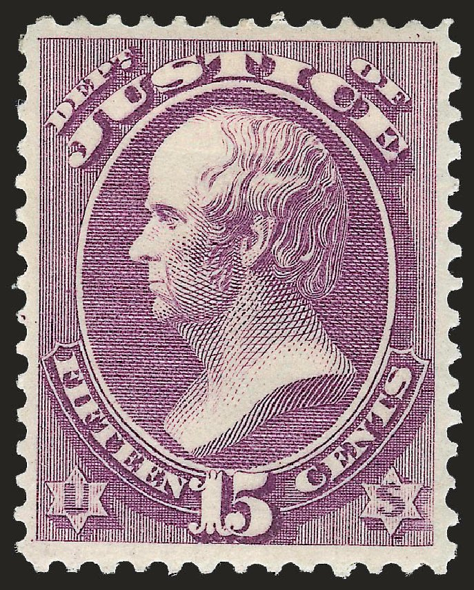 Values of US Stamps Scott Catalog #O31: 15c 1873 Justice Official. Robert Siegel Auction Galleries, Jun 2009, Sale 975, Lot 2231