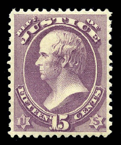 Values of US Stamp Scott Cat. O31 - 1873 15c Justice Official. Matthew Bennett International, Sep 2010, Sale 331, Lot 953