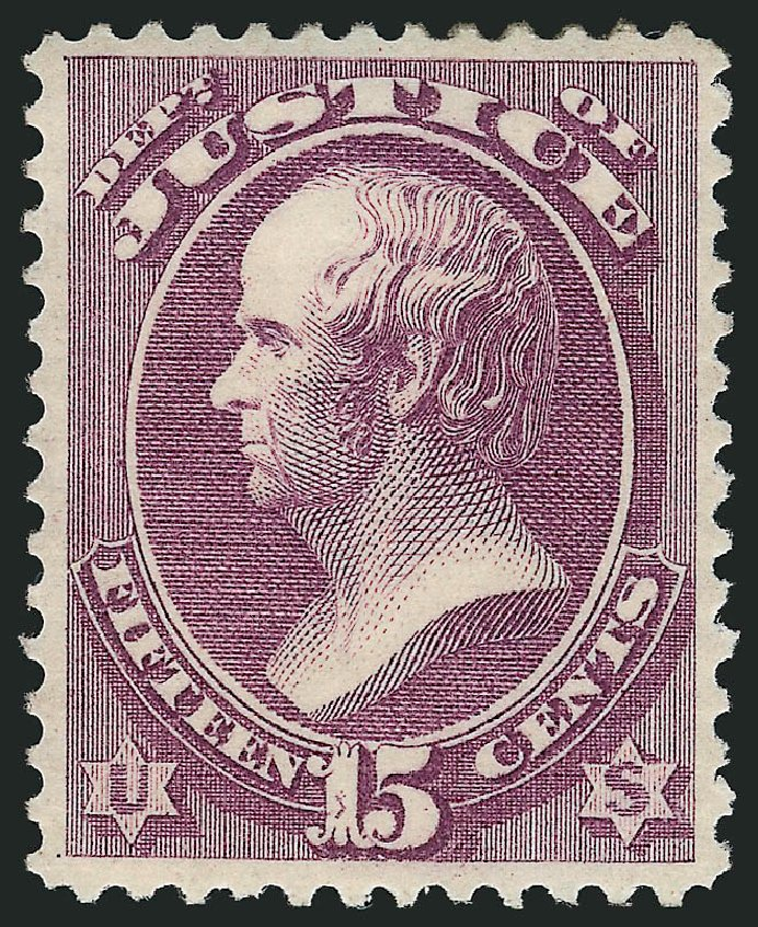 US Stamp Price Scott O31: 15c 1873 Justice Official. Robert Siegel Auction Galleries, Mar 2014, Sale 1067, Lot 1713