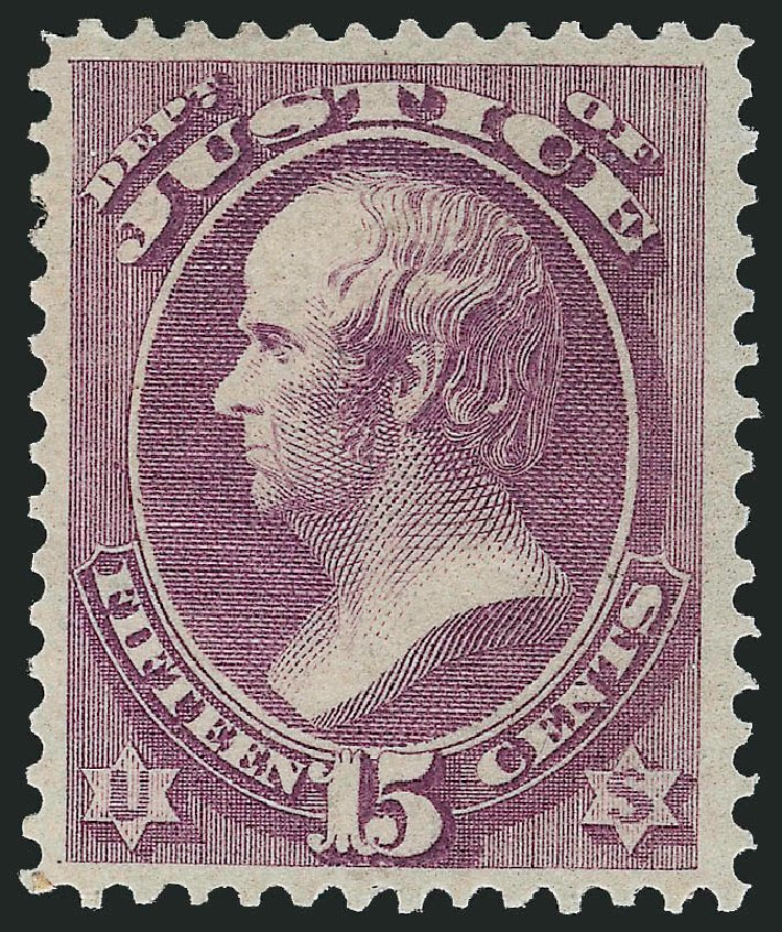 US Stamps Price Scott Catalog O31 - 15c 1873 Justice Official. Robert Siegel Auction Galleries, Nov 2014, Sale 1085, Lot 4056