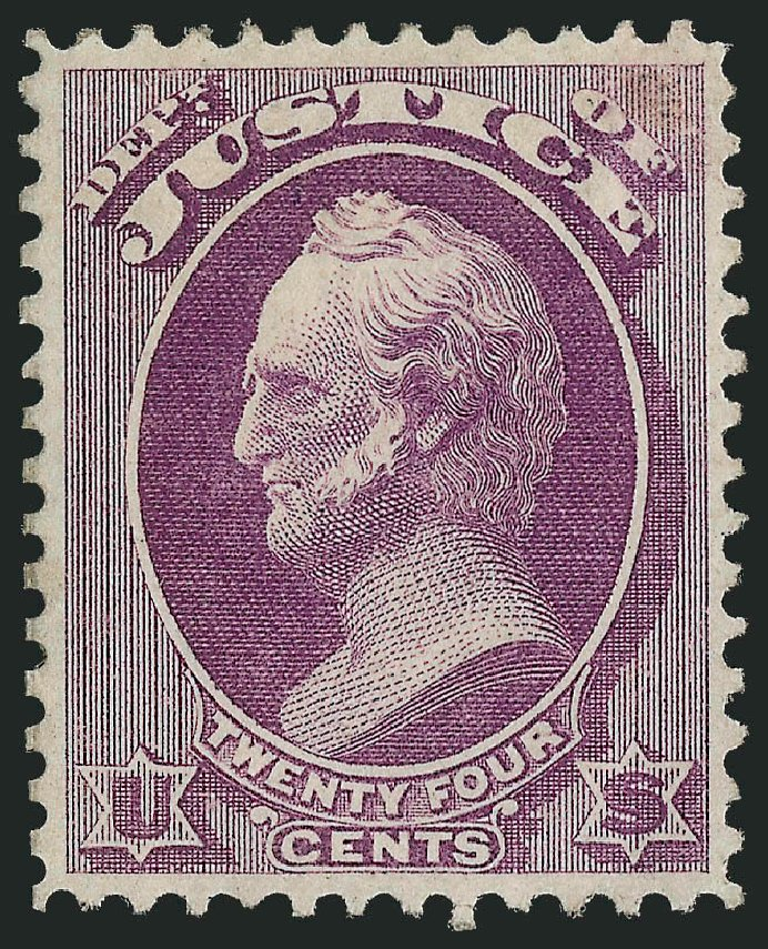 Prices of US Stamp Scott Cat. #O32: 24c 1873 Justice Official. Robert Siegel Auction Galleries, Nov 2013, Sale 1061, Lot 4158