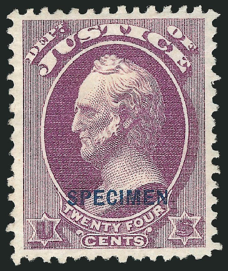 Prices of US Stamp Scott Cat. O32: 1873 24c Justice Official. Robert Siegel Auction Galleries, Mar 2015, Sale 1095, Lot 559