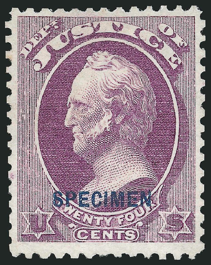 Cost of US Stamps Scott Catalogue #O32: 1873 24c Justice Official. Robert Siegel Auction Galleries, Dec 2012, Sale 1037, Lot 2333