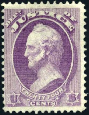 Price of US Stamp Scott Catalog # O32 - 1873 24c Justice Official. Harmer-Schau Auction Galleries, Mar 2011, Sale 89, Lot 416